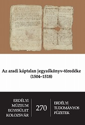 A Fragment of a Register from the Aradian Chapter (1504–1518) Cover Image