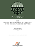Annual of the Association for the History of the Jews in the Čechoslovak Republic III Cover Image