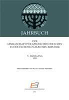 Annual of the Association for the History of the Jews in the Čechoslovak Republic V Cover Image