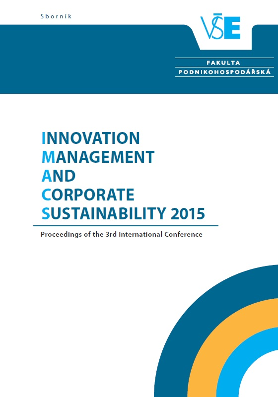Innovation Management and Corporate Sustainability (IMACS 2015) Cover Image