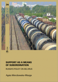 Support as a means of subordination. Russia's policy on Belarus Cover Image
