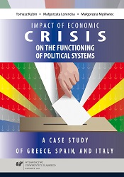 Impact of economic crisis on the functioning of political systems. A case study of Greece, Spain, and Italy Cover Image
