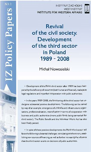 Revival of the civil society. Development of the third sector in Poland 1989 - 2008