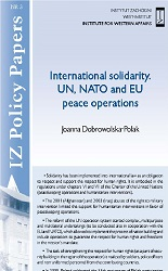 International solidarity. UN, NATO and EU peace operations