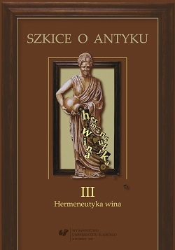 Essays on Antiquity. Vol. 3: the Hermeneutics of Wine Cover Image