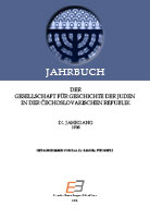 Annual of the Association for the History of the Jews in the Čechoslovak Republic IX Cover Image