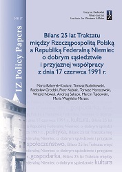 Balance of 25 years of the Treaty between the Republic of Poland and the Federal Republic of Germany on good neighbourhood and friendly cooperation of 17 June 1991 Cover Image