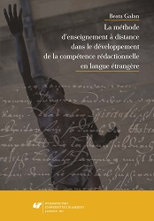 The Distance Learning Method in the Development of Competencies in Foreign Language Writing Cover Image