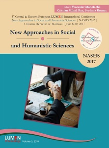 Proceedings Volume  3rd Central & Eastern European LUMEN International Conference New Approaches in Social and Humanistic Sciences NASHS 2017, Chisinau, Republic of Moldova,  June 8-10, 2017