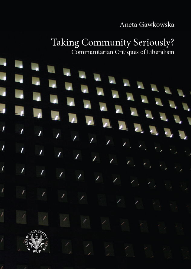 Taking Community Seriously? Communitarian Critiques of Liberalism Cover Image
