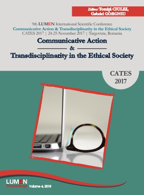 Proceedings Volume of 9th LUMEN International Scientific Conference Communicative Action  & Transdisciplinarity in the Ethical Society, CATES 2017 24-25 November 2017  Targoviste Romania