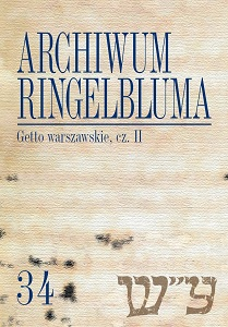 The Ringelblum Archive. Volumen 34. Warsaw Ghetto. Part 2 Cover Image