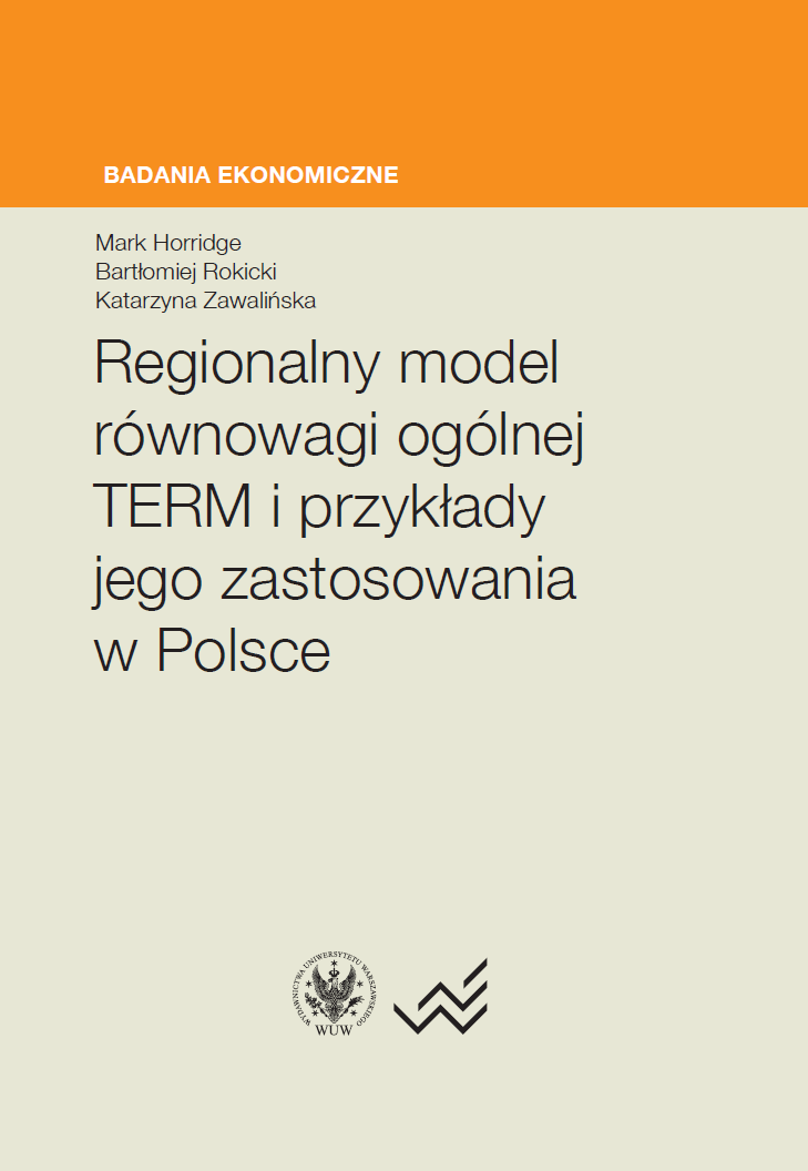 Regional Model of General Balance TERM and Examples of its Application in Poland Cover Image