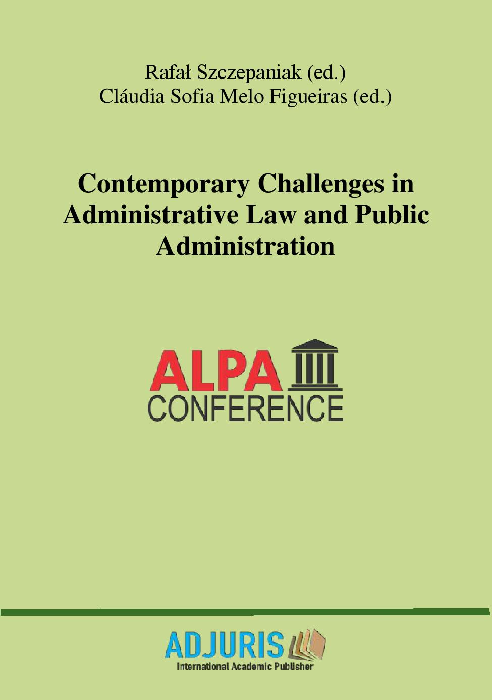 Contemporary Challenges in Administrative Law and Public Administration Cover Image