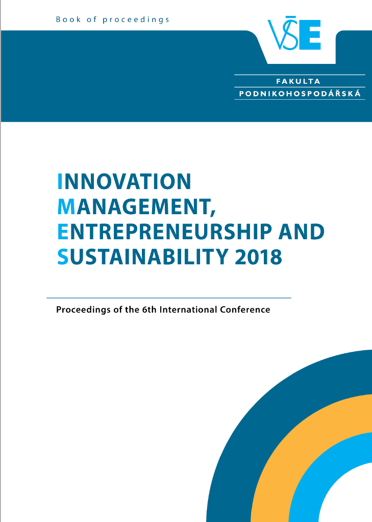 Innovation Management, Entrepreneurship and Sustainability (IMES 2018) Cover Image