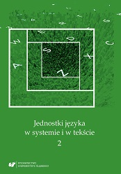 The units of language in a system and in a text 2 Cover Image