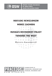 Russia's revisionist policy towards the West Cover Image