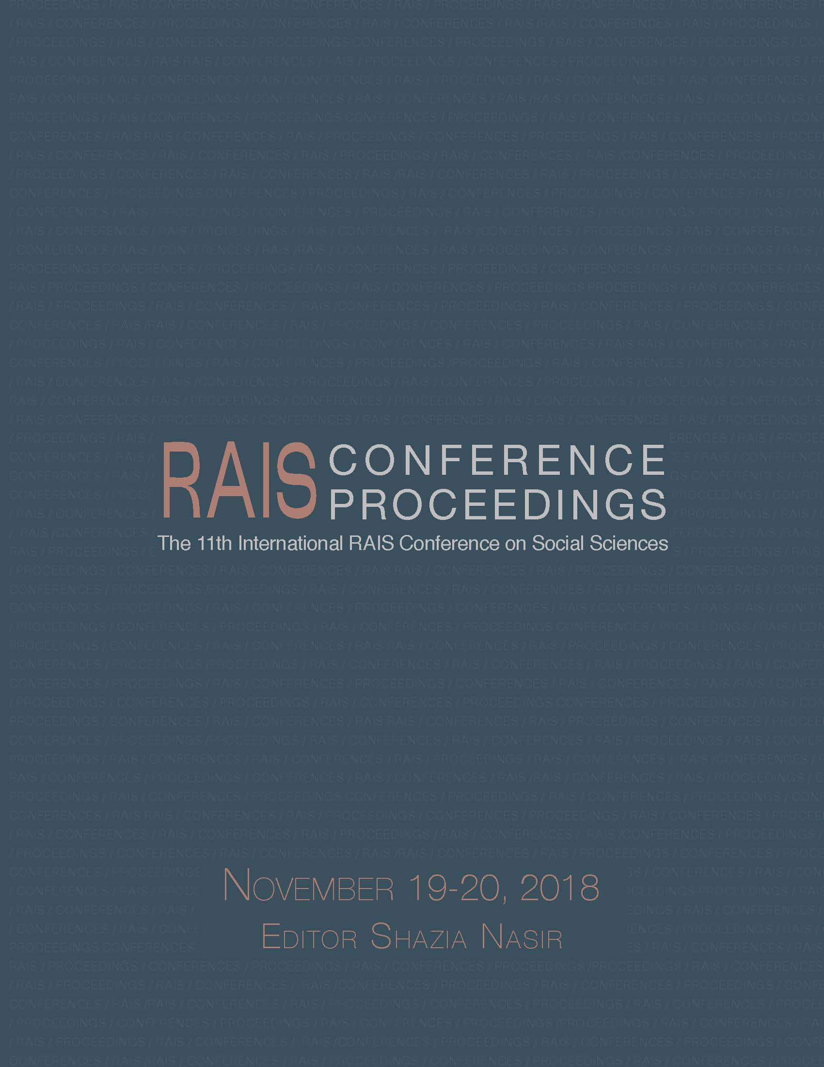 Proceedings of the 11th International RAIS Conference on Social Sciences Cover Image