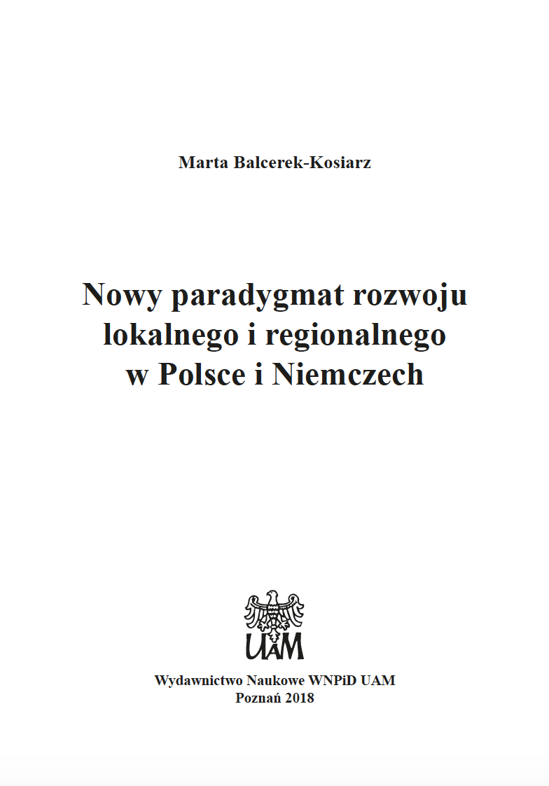 New Paradigm on Local and Regional Development in Poland and Germany Cover Image
