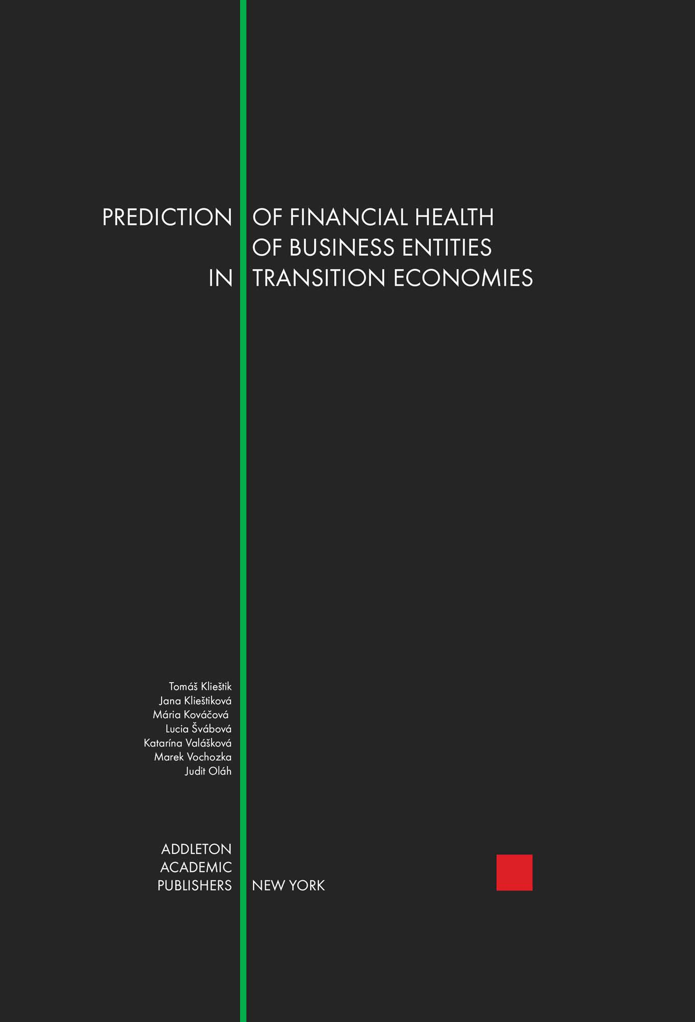 Prediction of financial health of business entities in transition economies Cover Image