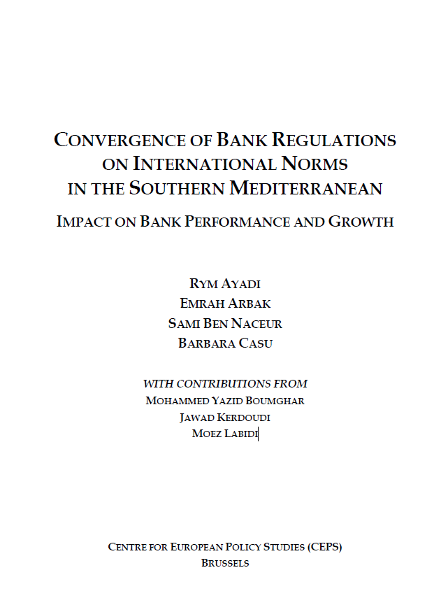 Convergence of bank regulations on international norms in the Southern Mediterranean