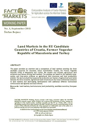 Land Markets in the EU Candidate Countries of Croatia, Former Yugoslav Republic of Macedonia and Turkey Cover Image
