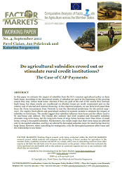 Do agricultural subsidies crowd out or stimulate rural credit institutions? Cover Image