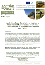 Agricultural and Rural Labour Markets in the EU Candidate Countries of Croatia, Former Yugoslav Republic of Macedonia and Turkey Cover Image