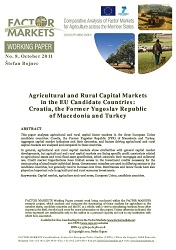 Agricultural and Rural Capital Markets in the EU Candidate Countries: Croatia, the Former Yugoslav Republic of Macedonia and Turkey