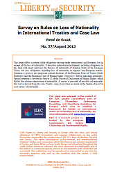 #57 Survey on Rules on Loss of Nationality in International Treaties and Case Law