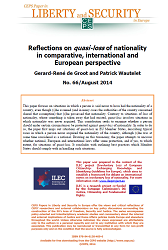 #66 Reflections on quasi-loss of nationality in comparative, international and European perspective