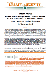 #79 Whose Mare? Rule of law challenges in the field of European border surveillance in the Mediterranean
