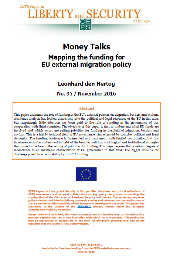 #95 Money Talks. Mapping the funding for EU external migration policy