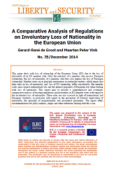 #75 A Comparative Analysis of Regulations on Involuntary Loss of Nationality in the European Union Cover Image