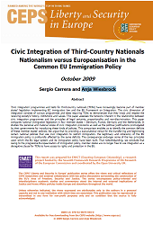 Civic Integration of Third-Country Nationals. Nationalism versus Europeanisation in the Common EU Immigration Policy