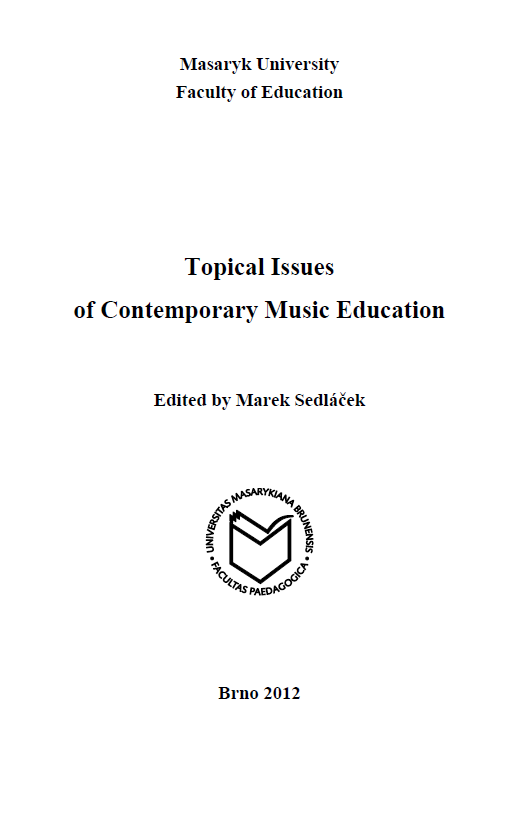 Topical Issues of Contemporary Music Education Cover Image