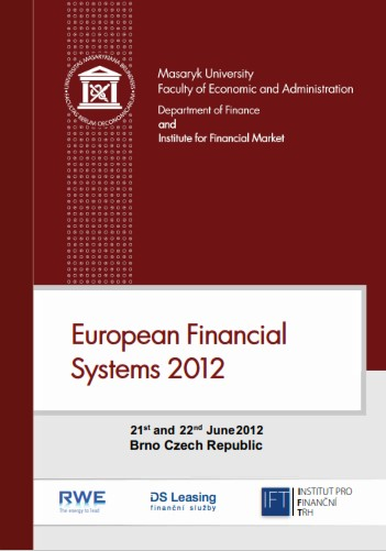 European Financial Systems 2012: 21st and 22nd June 2012