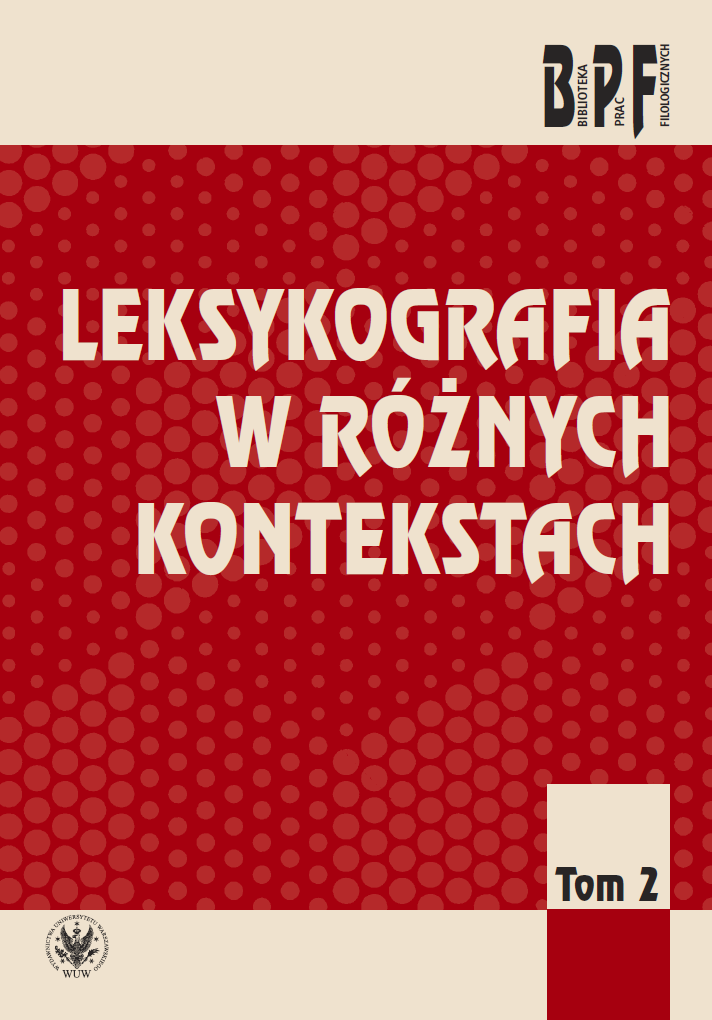 Lexicography in Various Contexts. Volume 2 Cover Image