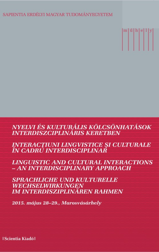 LINGUISTIC ISSUES IN SZÉCHENYI'S OEUVRE (PLURILINGUALISM, MULTILINGUALISM, MOTHER TONGUE) Cover Image