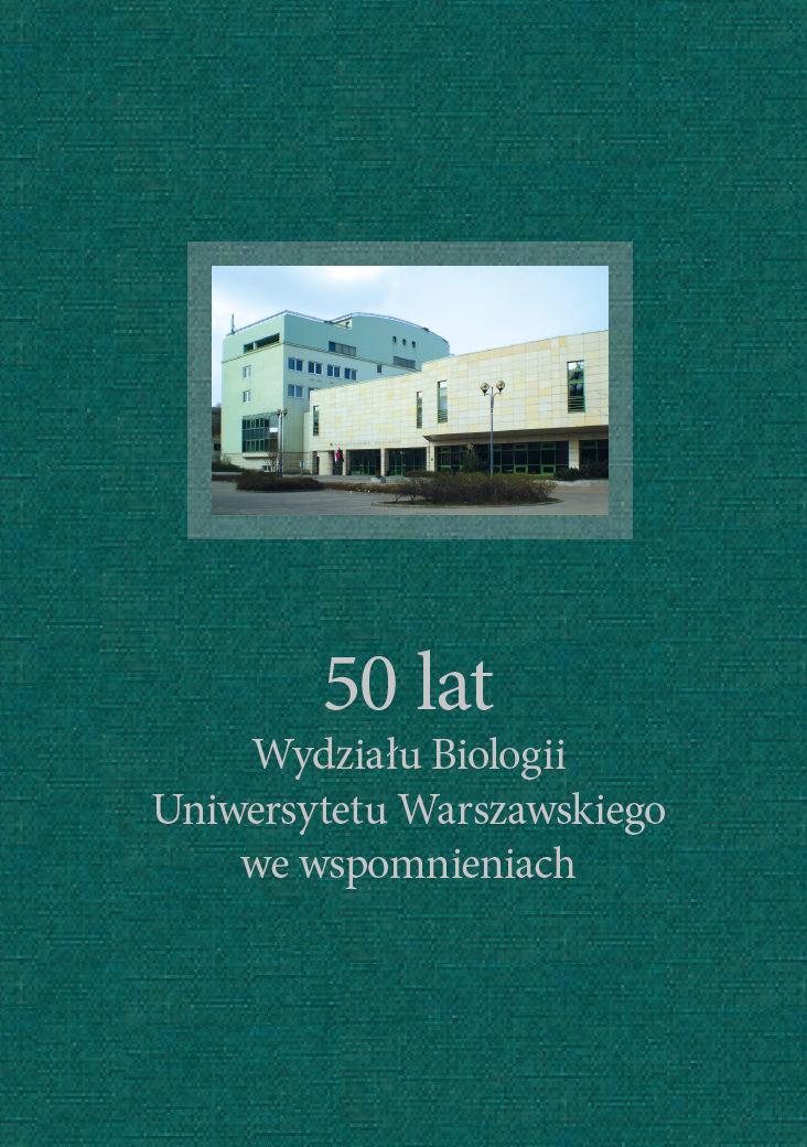 Commemorating 50 years of the Faculty of Biology of the University of Warsaw Cover Image