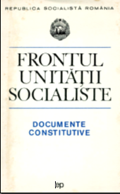 Constitution of the National Council. Speech to the Socialist Unity Front, November 19, 1968 Cover Image