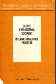 ON SOCIALIST PATRIOTISM AND THE PROLETARIAN INTERNATIONAL Cover Image