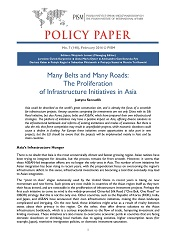 №148: Many Belts and Many Roads: The Proliferation of Infrastructure Initiatives in Asia