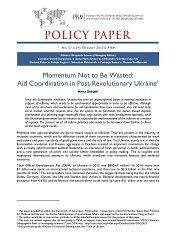 №139: Momentum Not to Be Wasted: Aid Coordination in Post-Revolutionary Ukraine Cover Image