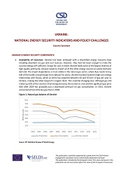 Ukraine: National Energy Security Indicators and Policy Challenges