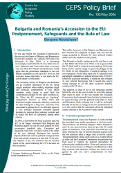№102. Bulgaria and Romania's Accession to the EU: Postponement, Safeguards and the Rule of Law