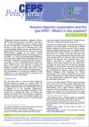 №123. Russian-Algerian cooperation and the 'gas OPEC': What's in the pipeline?