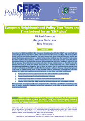 №126. European Neighbourhood Policy Two Years on: Time indeed for an 'ENP plus'