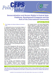 №134. Democratisation and Human Rights in Central Asia: Problems, Development Prospects and the Role of the International Community
