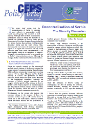 №137. Decentralisation of Serbia: The Minority Dimension